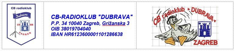 """39. natjecanje CB-operatora, CB-radioklubova, CB-sekcija i ostalih korisnika pod nazivom """"DUBRAVA 2020"""" 05.09.2020."""