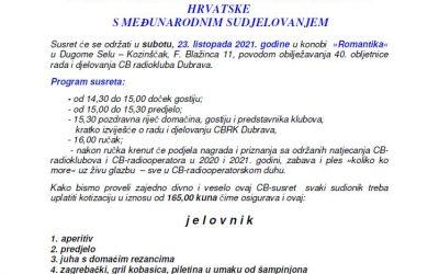 SUSRET CB-RADIOOPERATORA I CB-RADIOKLUBOVA HRVATSKE S MEĐUNARODNIM SUDJELOVANJEM